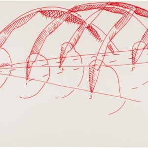 Untitled, 1990, Felt pen, pastel 50 x 70 cm Framed: 64 x 79,5 cm