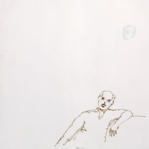 Untitled, 1993, Pencil and ink on paper 59 x 59 cm (framed)