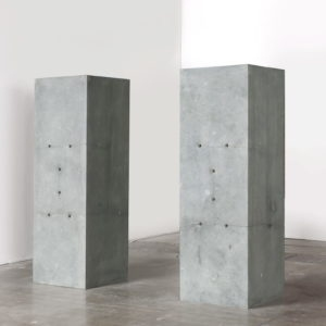 Untitled, 1989, German stone 2 standing columns Each: 60 x 60 x 180 cm
