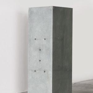 Untitled, 1989, German stone Standing column 60 x 60 x 180 cm
