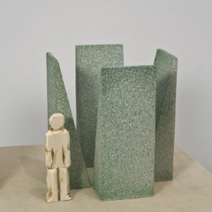 Untitled, 2012, Wooden exhibition macquette for a piece commissioned in Dolomite each slab: 350 x 110 cm