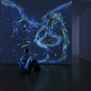 """Cave"", 2013, 4 channel data projection, computer code Variable dimensions"