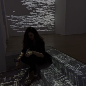 """Mosaic"", 2013, 1 channel data projection, computer code Variable dimensions"