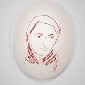 Luise, 2014, Glazed ceramic 72 x 55 x 4 cm