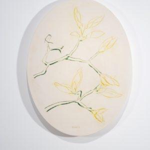 Blumenoval, 2014, Glazed ceramic 72 x 55 x 4 cm