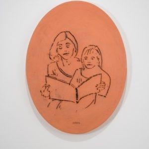 Anna & Katharina, 2014, Glazed ceramic 72 x 55 x 4 cm