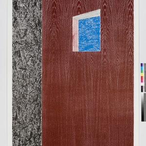 """Woodcuts (Window)"", 2011, Coloured woodcut print Ed.9/12 253 x 162 cm"