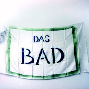 """Das Bad"", 1984, Print on white satin 83 x 135 cm"