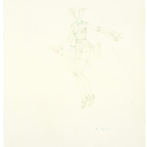La brodeuse (appliquee 2), 2014, Coloured pencil on paper 42 x 29 cm