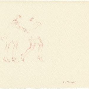"""""""Head Quarters, 2nd Series from Jean Cocteau's Les Enfants Terribles"""" 2011, Watercolour 23 x 26,5 cm"""