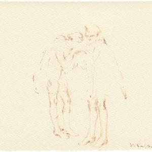 """""""Head Quarters, 2nd Series from Jean Cocteau's Les Enfants Terribles"""" 2011, Watercolour 23 x 27,5 cm"""