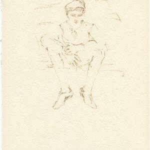 """""""Head Quarters, 2nd Series from Jean Cocteau's Les Enfants Terribles"""" 2011, Watercolour 30 x 21 cm"""
