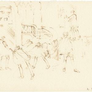 """""""Head Quarters, 2nd Series from Jean Cocteau's Les Enfants Terribles"""" 2011, Watercolour 21 x 29,5 cm"""
