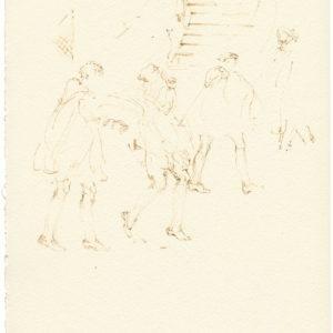 """""""Head Quarters, 2nd Series from Jean Cocteau's Les Enfants Terribles"""" 2011, Watercolour 26 x 21 cm"""