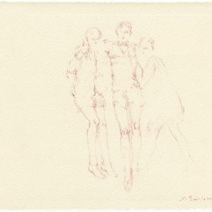 """""""Head Quarters, 2nd Series from Jean Cocteau's Les Enfants Terribles"""" 2011, Watercolour 23 x 28 cm"""
