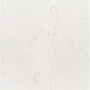 """""""Elisabeth"""" from Jean Cocteau's Les Enfants Terribles, 2011, Pencil on paper 53 x 39,5 cm"""