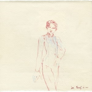 """""""Young Boy"""", 2011, Watercolour 17 x 18 cm"""