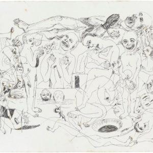 My Landscape #2, 2014, Pen on paper Unique 32 x 40,5 cm