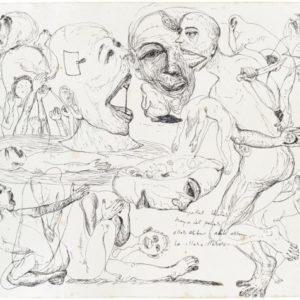 Indonesian Landscape Study #1, 2014, Pen on paper Unique 32 x 40,5 cm