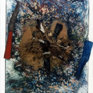 Four Seasons, 1980, Mixed media on cavnas 170 x 130 x 50 cm