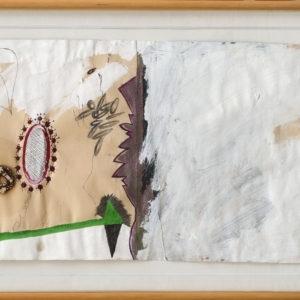Untitled, 1980, Mixed media on paper 36 x 102 cm (49 x 115 framed) (photo by Robert de Gobert)