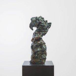 """""""Appaloosa"""", 2017, Glazed ceramic on steel pedestal 60 x 28 x 19 cm pedestal: 109,5 x 38 x 38 cm"""