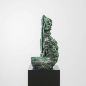 """""""Dance Me Swamply"""", 2017, Glazed ceramic on steel pedestal 63 x 27 x 21 cm pedestal:110 x 38 x 38 cm"""