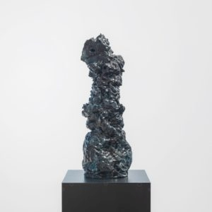 """Su Su"", 2017, Glazed ceramic on steel pedestal 66 x 24 x 19 cm pedestal: 110 x 38 x 38 cm"