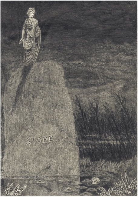 Silence / A Fable, 2011, Pencil on paper 30 x 21 cm