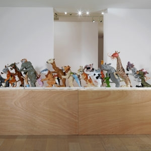 Lets do the Locomotion, 2012, Ceramic 81 x 40 x 330 cm