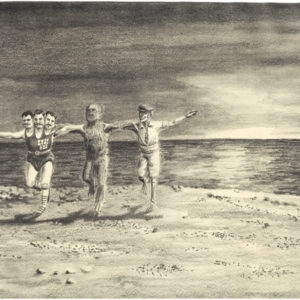 Sirtaki in the sunset, 2012, Pencil on paper, 21 x 30 cm