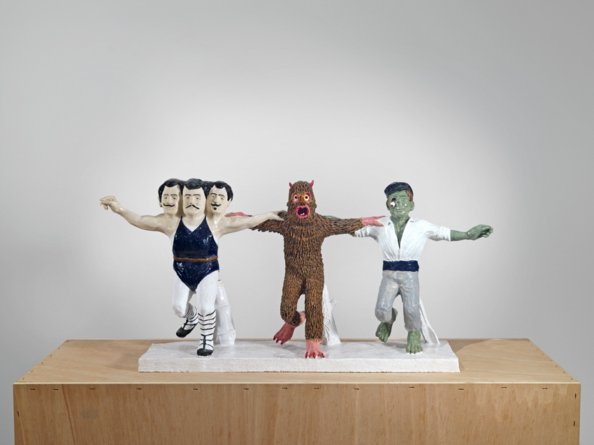 Koutalianos Koutalianos Koutalianos, Baboula and the Captain dance the Sirtaki 2012, Ceramic 44 x 100 x 24 cm