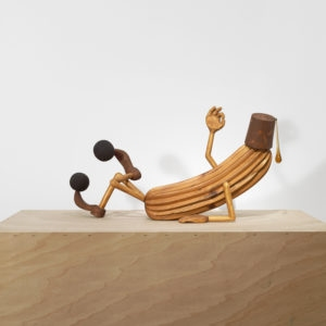 Mr Tulumba, 2012, Wood, crystal 44 x 100 x 24 cm