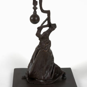 """45 from ""Promenade I"" (female figure from Zene at 4 am), Bronze, ed7/7, 39 x 26 x 17 cm"