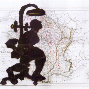 Porter Series: Carte de France Divisee, 2006, Hand woven mohair tapestry edition 3/5 257 x 345 cm