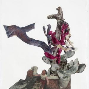 Ariel (arbre enfant), 2012-2013, Collage on paper 36,5 x 28,5 cm (framed)