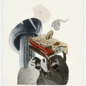 Ariel (mushroom), 2012-2013, Collage on paper 36,5 x 28,5 cm (framed)