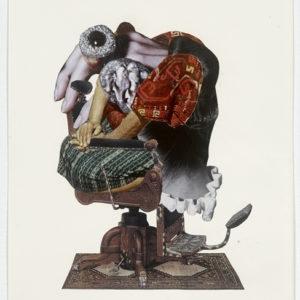 Ariel, 2012-2013, Collage on paper 36,5 x 28,5 cm (framed)