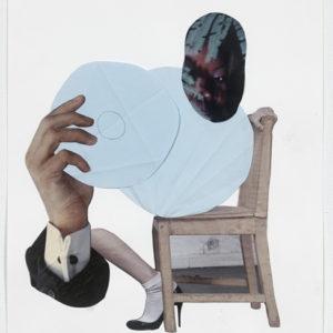 Ariel (black eye), 2012-2013, Collage on paper 36,5 x 28,5 cm (framed)