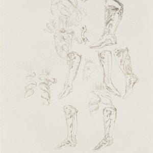 """""""Le Bal IV"""", 2018, Watercolour on paper 41.5 x 29.5 cm"""