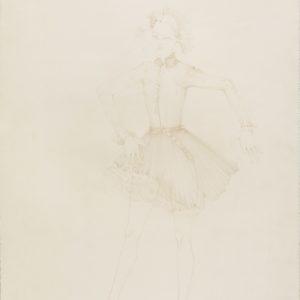 """""""Insecte- La Mante Religieuse"""", 2018, Colour pencil on paper 76 x 53.5 cm"""