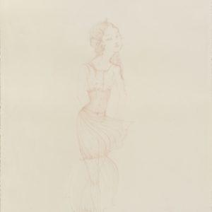 """""""Isolde"""", 2018, Colour pencil on paper 76 x 53.5 cm"""