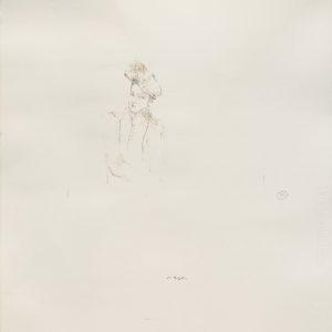 """""""Portrait de jeune homme"""", 2018, Watercolour on paper 65.5 x 52.5 cm"""