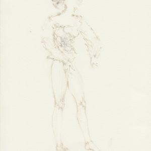 """""""Petit Oiseau"""", 2018, Watercolour on paper 29.5 x 21 cm"""