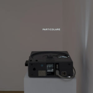"Particolare, 1972-2018, Slide projector, slide with the word ""Particolare"" (13 mm)"