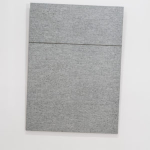 Untitled, 1987-2018, Lucerne granite, steel cable, slip knot 200 x 145 x 3 cm