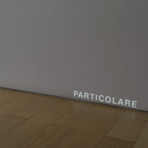 "Particolare, 1972-2018, Slide projector, slide with the word ""Particolare"" (21 mm)"