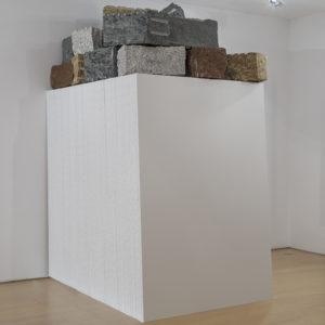 """""""Colori su tele verso l'altrove"""", 2018, Canvas, stones Variable dimensions"""