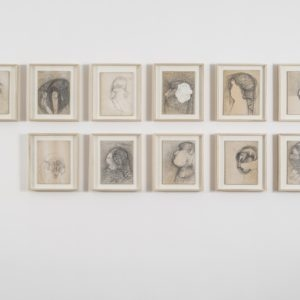 Untitled, 1982, Graphite on paper and cardboard 24 x 18 x 0,3 cm each (framed each: 31,5 x 27,5 x 4 cm)