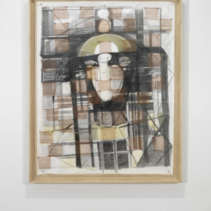 Untitled, 1984-1990, Graphite, pastels, copper on paper 188 x 150 cm (framed: 205,5 x 167 cm)